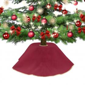 Jute dress for Christmas tree red 90 cm