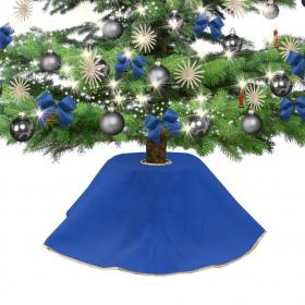 Jute dress for Christmas tree blue 90 cm