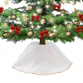 Jute dress for the Christmas tree cream 90 cm