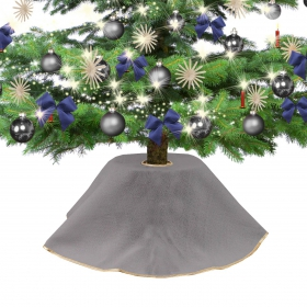 Jute dress for Christmas tree gray 90 cm