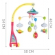 Baby cot carousel with projector – music box + remote control music bed bell cot toys with timing hanging rotating 4478