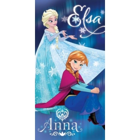 Frozen beach cotton towel