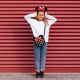 Minnie Mouse hair band with ears