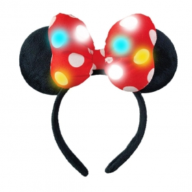 Minnie Mouse hairband with led light