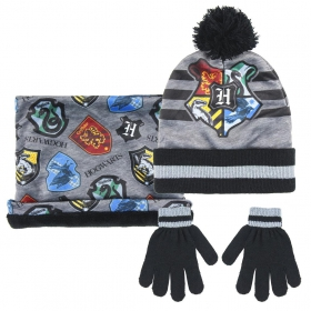 Harry Potter Set of winter hat, snood and gloves Cerda