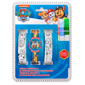 Digital watch with straps for paiting Paw Patrol