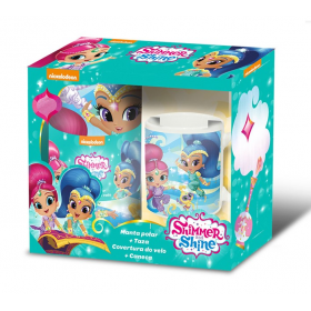 Shimmer and Shine fleece blanket and a porcelain mug gift set