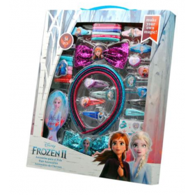 Frozen Set of 34 hair accessories with the brush