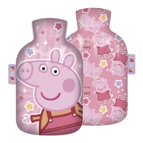 Peppa Pig hot water bottle with cover