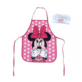 Minnie Mouse kitchen apron and hat set