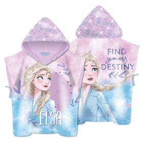 Frozen fast dry poncho towel