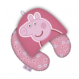 Peppa Pig hooded velvet neck cushion