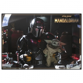 Star Wars the Mandalorian desktop mat