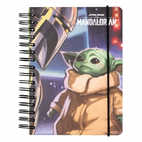 Star Wars the Mandalorian lined cover notebook a5 bullet
