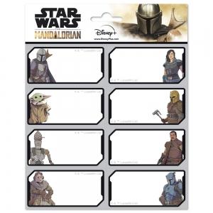 Star Wars The Mandalorian self adhesive labels