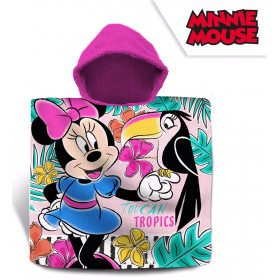 Cotton bathing poncho Minnie Mouse 120x60 cm