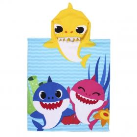 Baby Shark poncho towel