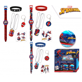 Digital watch with accessories Spiderman