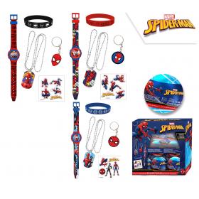Digital watch with accessories Spiderman