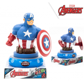 Night lamp 3d figure captain america
