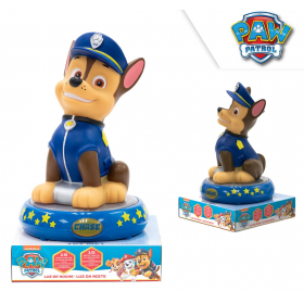 Night lamp 3d figure chase paw patrol