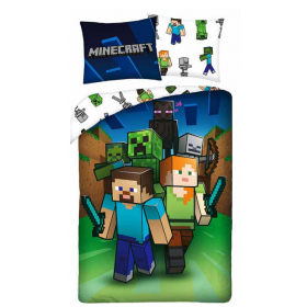 Minecraft bedding 160x200 cm + 70x80 cm