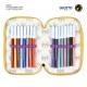 Batman Three-chamber pencil case with Giotto Premium accessories Cerda