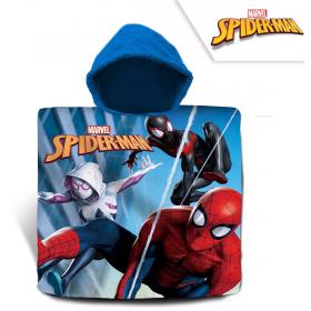 Spiderman cotton bathing poncho, 60x120 cm