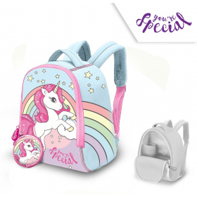 Neoprene backpack with a wallet Unicorn 25 cm