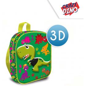 Crazy Dino 3D backpack 30 cm