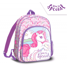 2 compartments backpack Unicorn 36 cm
