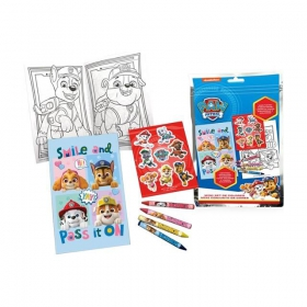 Paw Patrol coloring page with stickers