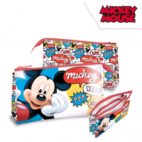 Three-chamber pencil case Mickey Mouse