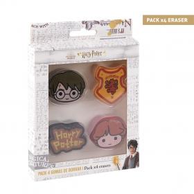 Harry Potter eraser 4 pack