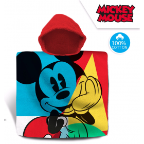Mickey Mouse cotton bathing poncho
